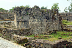 Alte mittelalterliche byzantinische Festung Gonio Aphsaros nahe Batumi, Geor Lizenzfreies Stockbild