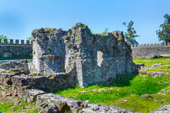 Alte mittelalterliche byzantinische Festung Gonio Aphsaros nahe Batumi in Georgia Lizenzfreies Stockfoto