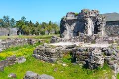 Alte mittelalterliche byzantinische Festung Gonio Aphsaros nahe Batumi in Georgia Lizenzfreie Stockbilder