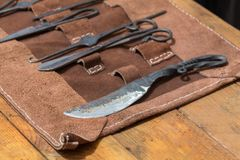 Alte mittelalterliche Chirurgie behandelt Werkzeuge Lizenzfreies Stockfoto
