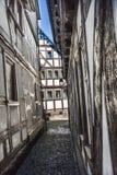 Alte mittelalterliche Häuser in Schotten Lizenzfreies Stockbild