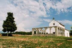 Alte mittelalterliche Kirche von St. Fosca Lizenzfreies Stockfoto