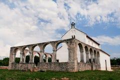 Alte mittelalterliche Kirche von St. Fosca Stockfotografie