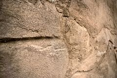 Alte mittelalterliche raue Wand Lizenzfreie Stockbilder