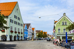 Alte mittelalterliche Stadt von Schongau Lizenzfreie Stockbilder