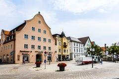 Alte mittelalterliche Stadt von Schongau Lizenzfreie Stockfotografie