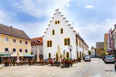 Alte mittelalterliche Stadt von Schongau Lizenzfreies Stockfoto