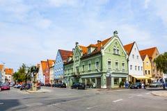 Alte mittelalterliche Stadt von Schongau Lizenzfreies Stockbild