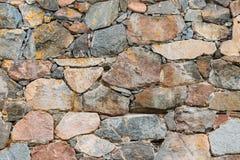 Alte mittelalterliche Steinwand-Hintergrund-Beschaffenheit Stockfotos