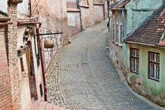 Alte mittelalterliche Straße Stockbild