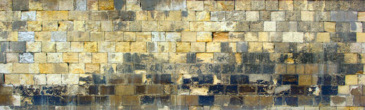 Alte mittelalterliche Wand-Beschaffenheit stockbild