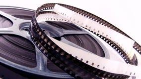 Alte 8mm Filme u. Spulen stock video