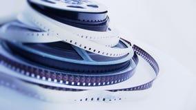 Alte 8mm Filme u. Spulen stock video footage