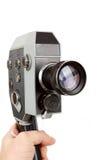 Alte 8mm Filmkamera in der Hand Stockbild