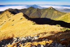 Alte montagne ad ovest Slovacchia di tatra Fotografia Stock