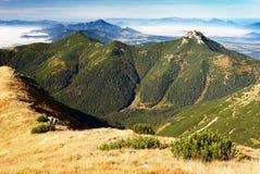 Alte montagne ad ovest Slovacchia di tatra Immagini Stock