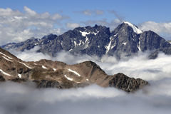 Alte montagne in alpi del sud, NZ Immagine Stock Libera da Diritti