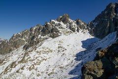 Alte montagne in autunno, Slovacchia di Tatra Fotografia Stock