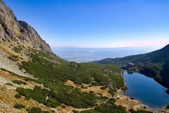 Alte montagne in autunno, Slovacchia di Tatra Fotografia Stock Libera da Diritti