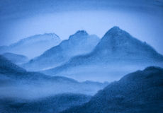 Alte montagne blu Immagine Stock Libera da Diritti