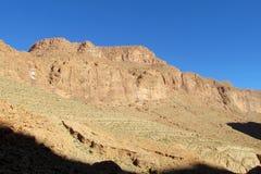 Alte montagne della roccia del deserto dell'atlante Immagini Stock