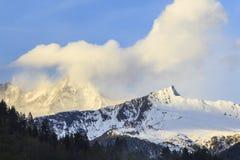 Alte montagne delle alpi Fotografie Stock