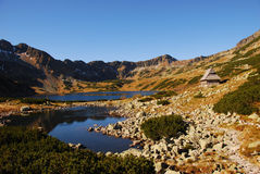 Alte montagne di Tatra Immagini Stock