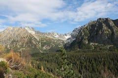 Alte montagne di Tatra Immagine Stock
