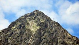 Alte montagne di Tatra e Lomnicky Stit, Slovacchia, Europa Fotografia Stock