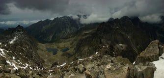 Alte montagne di Tatra slovacche Fotografia Stock