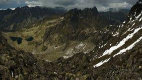 Alte montagne di Tatra slovacche Fotografie Stock