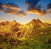 Alte montagne di Tatra, Slovacchia Fotografia Stock Libera da Diritti