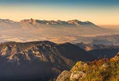 Alte montagne di tatras Fotografie Stock