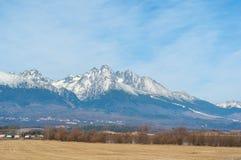 Alte montagne di Tatras in autunno Immagini Stock Libere da Diritti