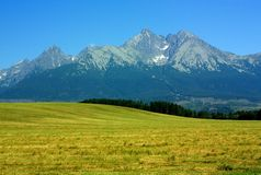 Alte montagne di Tatras, Slovacchia Immagine Stock