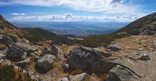 Alte montagne di Tatry slovacche Fotografie Stock Libere da Diritti