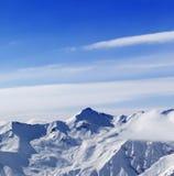 Alte montagne in inverno Fotografia Stock Libera da Diritti
