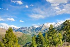 Alte Montagne Rocciose di Colorado Fotografie Stock