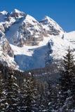 Alte montagne sotto neve in inverno Immagini Stock Libere da Diritti