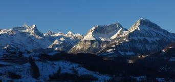 Alte montagne Uri Rotstock, Schwalmis e Brisen Fotografie Stock