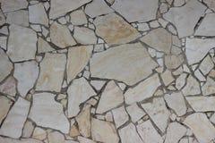 Alte Mosaikwand von beige Blöcken der Jerusalem-Steinbeschaffenheit Stockbild