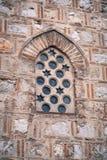 Alte Moschee gewölbtes Fensterdetail Lizenzfreie Stockfotos
