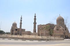 Alte Moscheen beleuchten altes Ägypten, Nadschaf Kairo Stockfotos