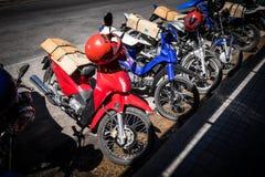 Alte Motorräder Stockbild