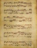 Alte Musik auf Pergament Lizenzfreie Stockfotografie
