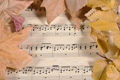 Alte Musik und Blätter Lizenzfreie Stockfotos