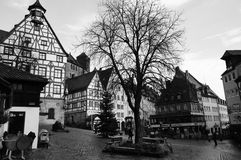 Alte Nürnberg-Stadt im Winter Lizenzfreies Stockfoto