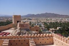 Alte Nakhal Festung Stockfoto
