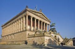 Alte Nationalgalerie i Berlin Arkivbild
