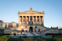 Alte Nationalgalerie (Old National Gallery) on the Museumsinsel in Berlin-Mitte. Stock Photos